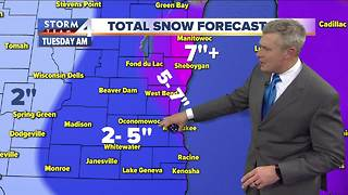 Winter Storm Warning issued for parts of SE Wis. - Video