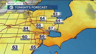 Metro Detroit Forecast: Warmer tomorrow and headed back to the 90s