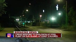 Multiple injuries reported after explosion at steel plant on Zug Island - Video