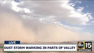 Dust storm rolls through the East Valley 7/5 - Video