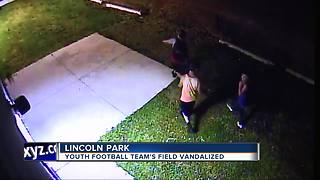 Metro Detroit youth football field vandalized, suspects knock over port-a-potties - Video