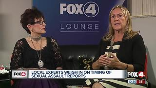 Local experts weigh in on timing of sexual assault reports - Video