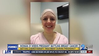 A woman battles breast cancer while pregnant