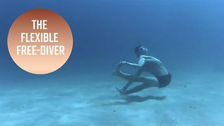 Have you ever seen an underwater contortionist? - Video