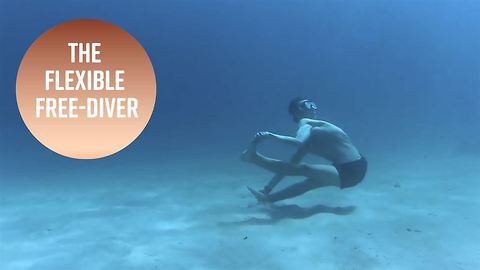 Have you ever seen an underwater contortionist?