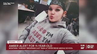 Update on Amber Alert for missing 11-year-old girl