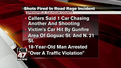 Shots fired during road rage incident