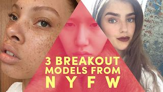 The fresh faces everyone's talking about at NYFW - Video