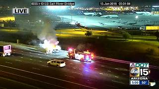 Car catches fire on Salt River Bridge