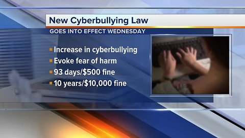 Michigan cyberbulling law to go into effect on Wednesday
