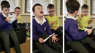 Mum captures disney reveal fail after 'perfectionist' son throws massive tantrum after struggling to read treasure hunt note - Video