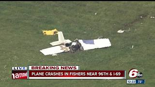 Fishers police discuss single engine plane crash at Indianapolis Metropolitan Airport