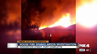 House Fire Sparks Arson Investigation - Video