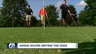 Akron's Nate Forrestel defying the odds on the golf course - Video