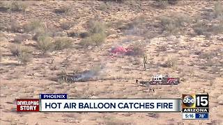 Video captures hot air balloon crash in Phoenix