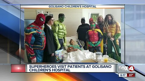 Superheros visit Golisano's Children's Hospital