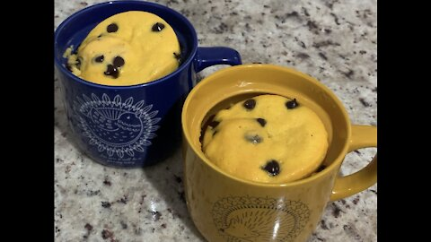 Carrot Cake in a mug for when we want a cake but don't want to bake one