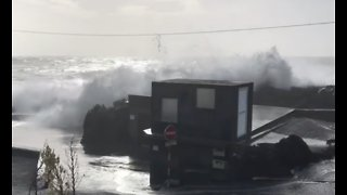 Storm Batters Azores Island Coast Before Heading to Europe - Video