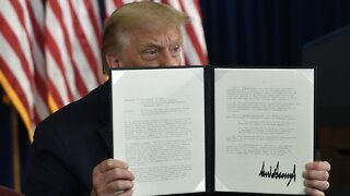 President Trump Signs Executive Actions To Provide COVID-19 Relief