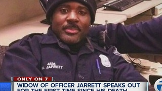 Wife of Detroit Police Department Officer Myron Jarrett speaks to 7 Action News