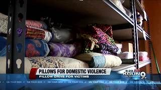 Pillow drive kicks off for domestic violence victims - Video