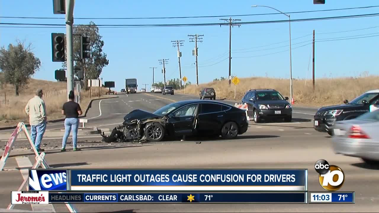 Traffic light outages cause confusion for drivers