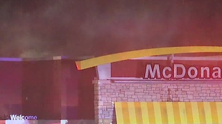 Fire at Canton McDonalds - Video