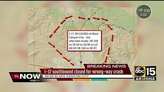 Wrong way crash closes down I-17 - Video