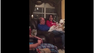 Grandparents-To-Be Receive The Best Christmas Present - Video