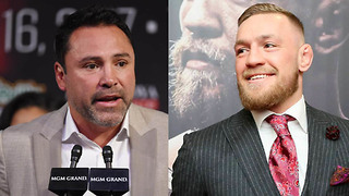 Oscar De La Hoya Challenges Conor McGregor To A Fight - Video