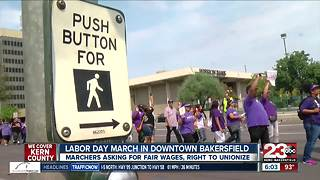Dozens hit the streets of Bakersfield for Labor Day March - Video