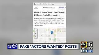 Ads on Craigslist asking for Trump actors to show up in Phoenix? - Video