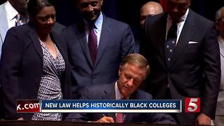 Bill Helping Black Colleges Signed Into Law - Video