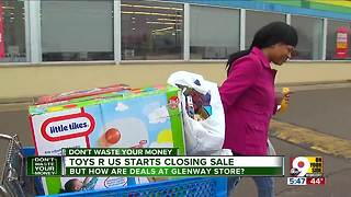 Toys R Us closing sales may not be great deals