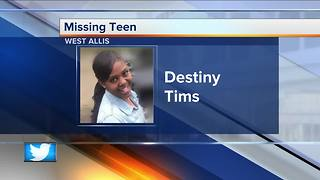 West Allis police searching for missing 17-year-old girl