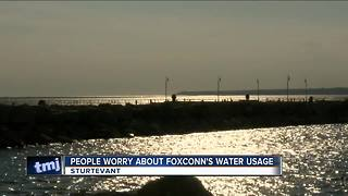 Foxconn's plan to take 7 million gallons of water from Lake Michigan draws community concern - Video