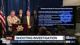 "Law enforcement ""swarm"" Las Vegas shooting investigation"