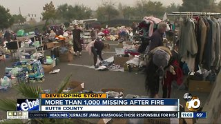 More than 1,000 missing after NorCal fire