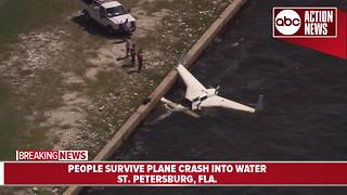 Plane crashes into water near Albert Whitted Airport in St. Pete - Video