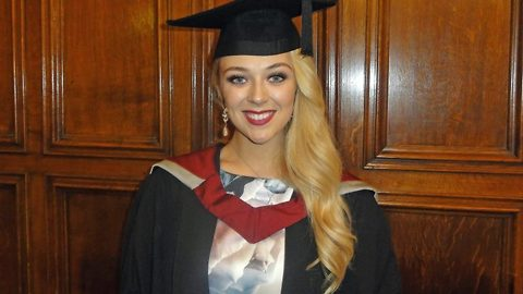 Stunning Miss England graduates first class degree and now determined to cure cancer