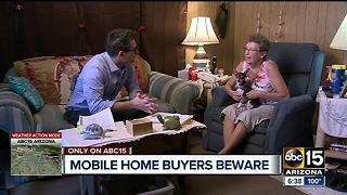 East Mesa mobile home park accused of fraud by residents - Video