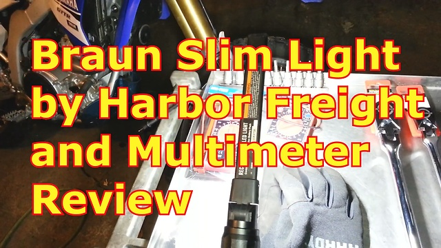Braun Slim Light by Harbor Freight and Multimeter Review