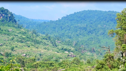 Beautiful View Of Mountain In Cambodia