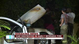 Lehigh Acres fire department investigating car fire - Video