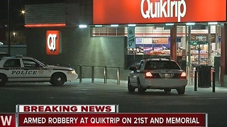 Police investigate overnight Quiktrip armed robbery - Video