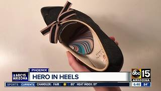 Valley woman creates high-heels focusing on comfort - Video