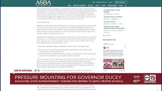 Pressure mounting for Governor Ducey from Arizona school leaders