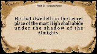 Psalm 91 - My Refuge and My Fortress (King James Version) -Powerful Prayer