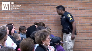 Cellphone Records Teacher Being Dragged Out Of Building In Handcuffs After Questioning Superintendent's Raise (c) - Video