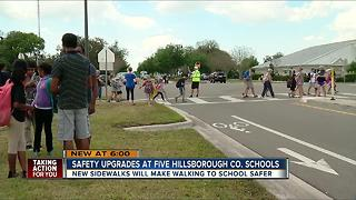 Several Hillsborough County schools slated to get more sidewalks - Video